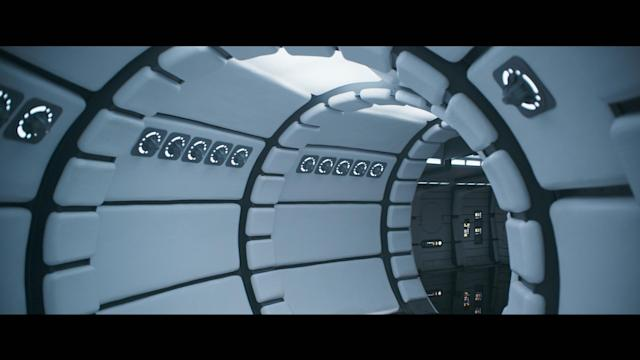 The formerly spotless interior of the Millennium Falcon. (Photo: Disney/Lucasfilm)