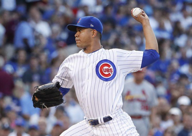 Jose Quintana didn't have to travel far to find his new team. (AP Photo)