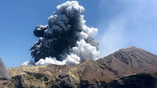 PHOTO: This file photo taken on Dec. 9, 2019, provided by Lillani Hopkins, shows the eruption of the volcano on White Island off the coast of Whakatane, New Zealand. (Lillani Hopkins/AP)