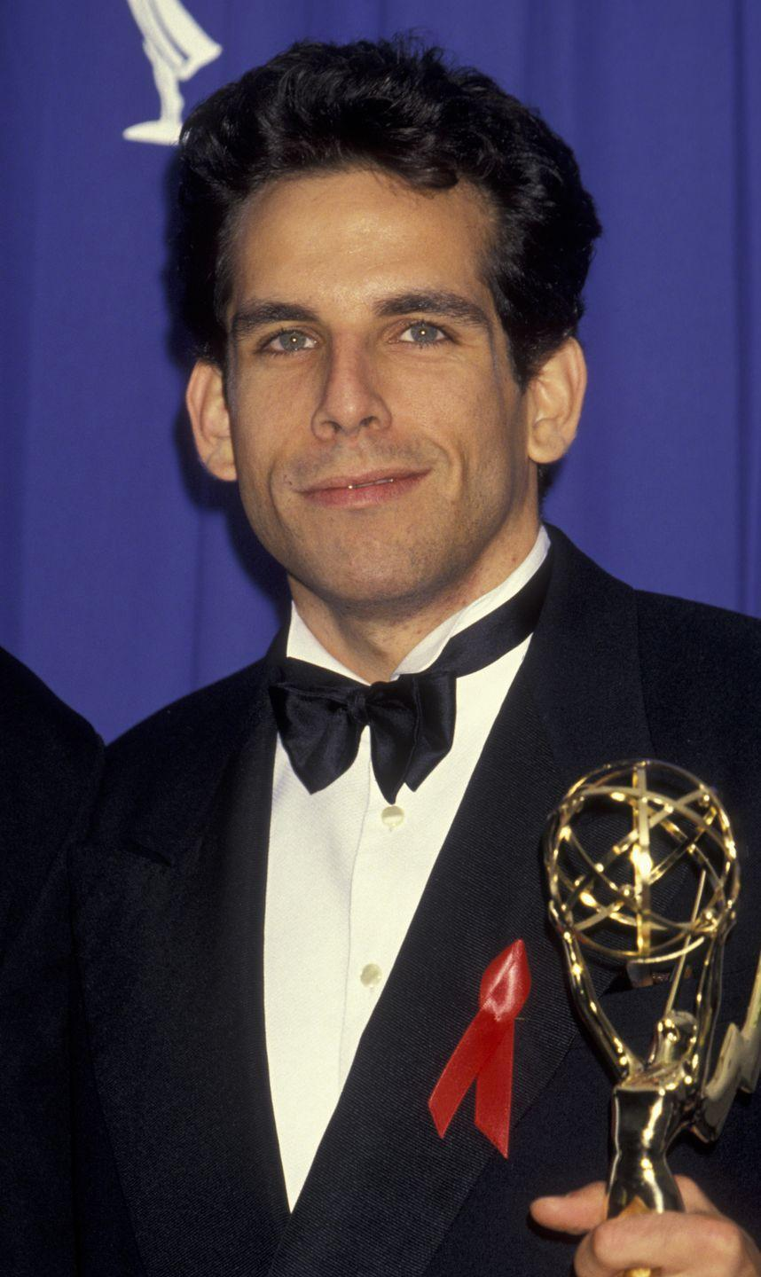 <p>Before he was a comedic film icon, Ben Stiller was just starting out in the business—with a full head of thick, dark curls. </p>