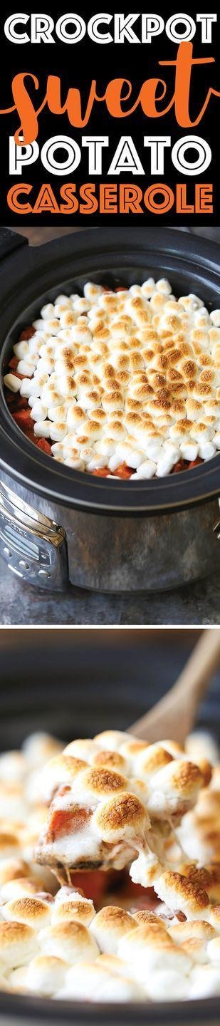 """<p>Save yourself some precious oven space by whipping up this sweet potato casserole in your slow cooker. Add a layer of mini marshmallows during the last five to 10 minutes of cooking for an ooey, gooey topping.</p><p><strong>Get the recipe at <a href=""""https://damndelicious.net/2016/11/21/slow-cooker-sweet-potato-casserole/"""" rel=""""nofollow noopener"""" target=""""_blank"""" data-ylk=""""slk:Damn Delicious"""" class=""""link rapid-noclick-resp"""">Damn Delicious</a>.</strong></p><p><a class=""""link rapid-noclick-resp"""" href=""""https://go.redirectingat.com?id=74968X1596630&url=https%3A%2F%2Fwww.walmart.com%2Fbrowse%2Fhome%2Fslow-cookers%2F4044_90548_90546_4829&sref=https%3A%2F%2Fwww.thepioneerwoman.com%2Ffood-cooking%2Fmeals-menus%2Fg36876289%2Fsweet-potato-side-dishes%2F"""" rel=""""nofollow noopener"""" target=""""_blank"""" data-ylk=""""slk:SHOP SLOW COOKERS"""">SHOP SLOW COOKERS</a></p>"""