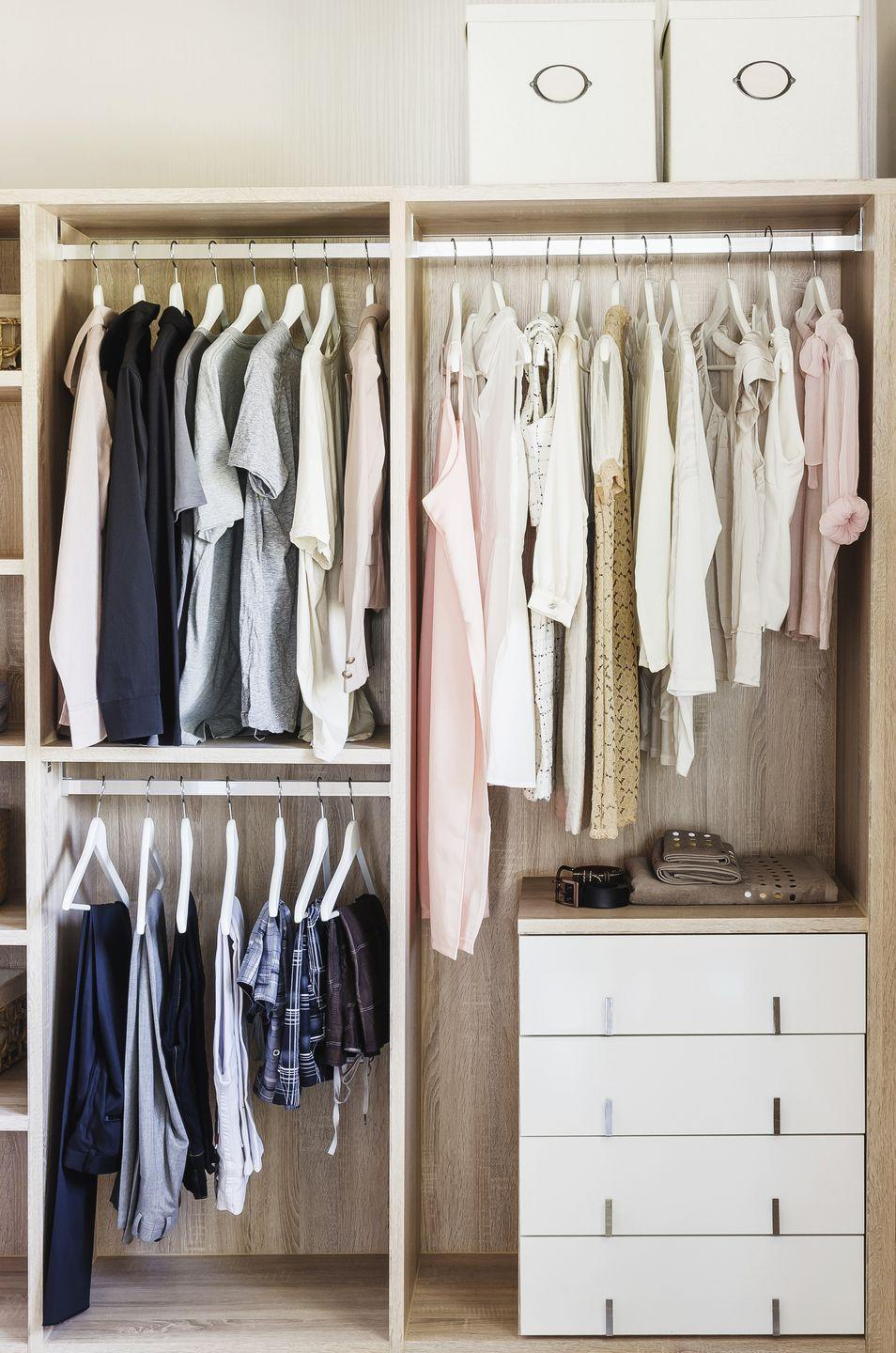 <p>Go through clothes and shoes from the season that's just ended — and remove anything stained, in need of repair, or worn out, Phillip advises. Make a second pass through spring and summer clothes as you take them out of storage. Try on anything you're unsure about before giving it closet space. </p>