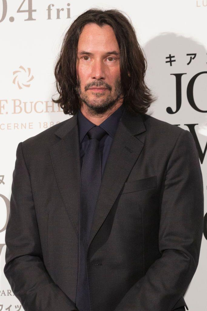 <p>Keanu clearly ages like a fine wine because...I mean, just look at that jawline. It hasn't changed a bit. We fell in love with him in his movies decades ago, and kept on falling for him in his John Wick films. Might I add, the man can rock a-n-y hairstyle. If you haven't seen him in Netflix's <em>Always Be My Maybe </em>yet, um, get on it. </p>