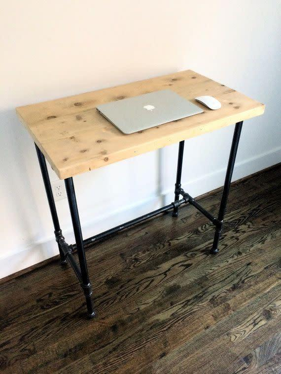 This made-to-order can be customized to your ideal desk height -- just specify before you order!<span>Shop it here</span>.