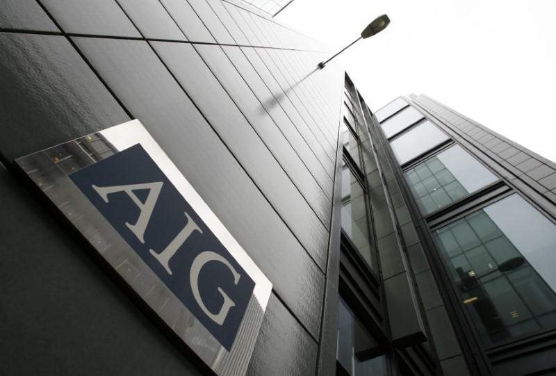The AIG office building is seen in the City of London