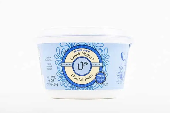 <p>For those who want the protein-packed health perks of Greek yogurt, but crave a thinner texture, Harris-Pincus suggests snagging the Trader Joe's brand.</p><p><em><strong>Nutrition per serving:</strong>110 cal, 17 g pro, 7 g carb, 0 g fiber, 5 g sugars (0 g added sugars), 0 g fat (0 g sat fat), 75 mg sodium</em> </p><p><em>$4.99, 32 oz.</em></p>