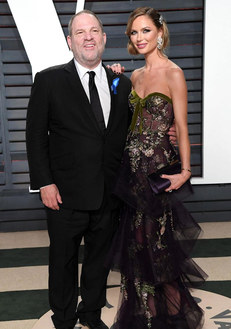 Harvey and his wife Georgina Chapman earlier this year. Source: Getty