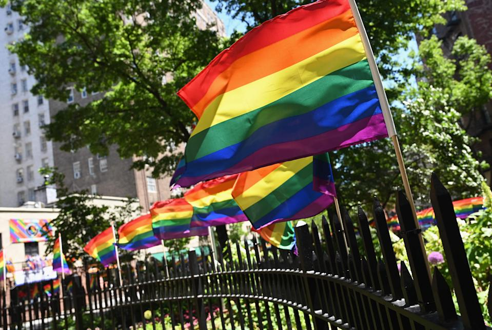 Rainbow flags are seen at the Stonewall National Monument in New York City, dedicated to the birthplace of the modern lesbian, gay, bisexual, transgender, and queer civil rights movement in New York City.