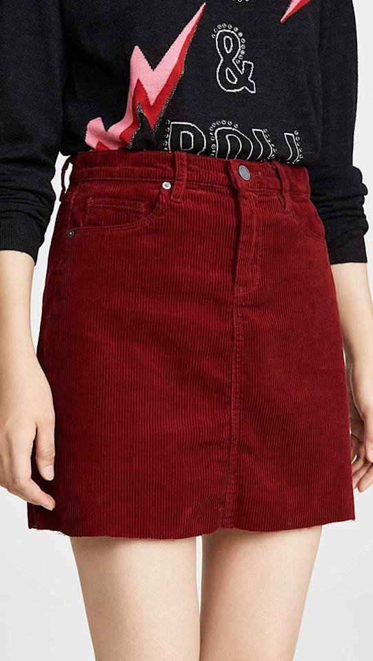 "<p>Style this <a href=""https://www.popsugar.com/buy/BlankNYC-Blank-Denim-Cherry-Pop-Skirt-484631?p_name=BlankNYC%20Blank%20Denim%20Cherry%20Pop%20Skirt&retailer=amazon.com&pid=484631&price=48&evar1=fab%3Aus&evar9=46550370&evar98=https%3A%2F%2Fwww.popsugar.com%2Ffashion%2Fphoto-gallery%2F46550370%2Fimage%2F46551199%2FBlankNYC-Blank-Denim-Cherry-Pop-Skirt&list1=shopping%2Cfall%20fashion%2Camazon%2C50%20under%20%2450&prop13=mobile&pdata=1"" rel=""nofollow"" data-shoppable-link=""1"" target=""_blank"" class=""ga-track"" data-ga-category=""Related"" data-ga-label=""https://www.amazon.com/Blank-Denim-Womens-Cherry-Skirt/dp/B07WLZZ5KV?s=shopbop&amp;ref_=sb_ts"" data-ga-action=""In-Line Links"">BlankNYC Blank Denim Cherry Pop Skirt</a> ($48) with a sweater and tights.</p>"