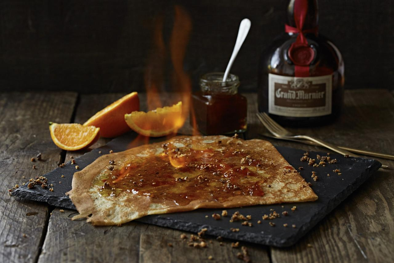 "<p>You can, of course, fire up Pancake Day by setting your crepe alight. Either flambe at home, or take a trip to authentic creperie <a rel=""nofollow"" href=""http://www.mamies.co.uk/#mamies"">Mamie's</a> for The La Gaugin – banana, chocolate, Chantilly cream and flambé rum. [Photo: Samphire]  </p>"