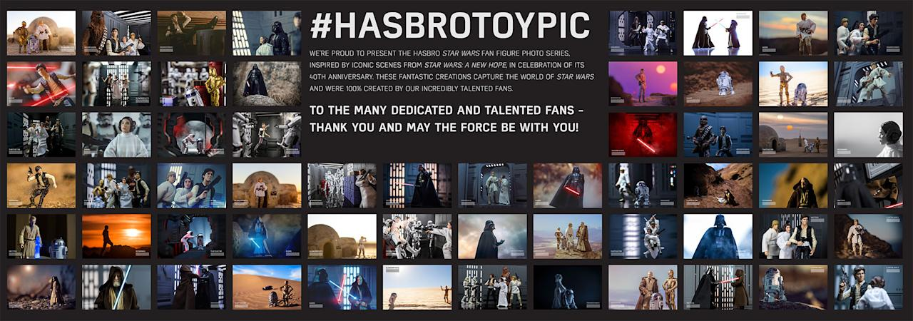 <p>As seen on the floor of the toy-palooza, Hasbro solicited famed photographers to stage classic 'Star Wars' scenes and received more than 60 submissions. (Photo: Hasbro) </p>
