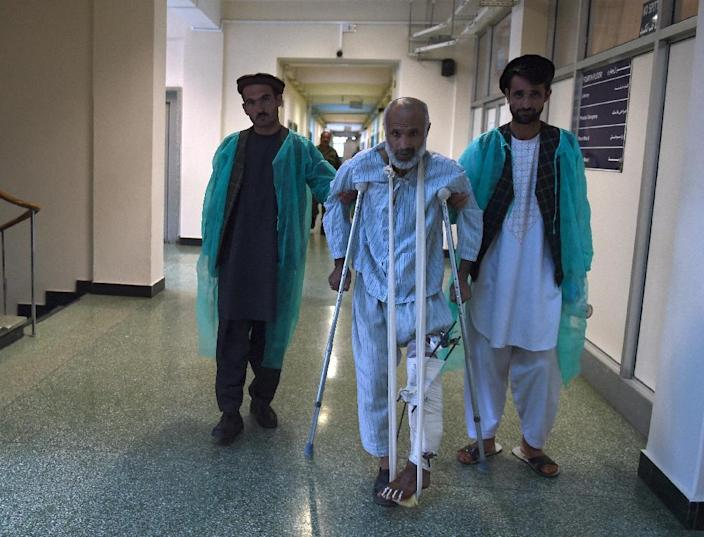 With some 400 beds, the Sardar Mohammed Daoud Khan facility is the jewel in the crown of the Afghan health service and it receives dozens of soldiers every day who have been wounded fighting the Taliban (AFP Photo/Wakil Kohsar)