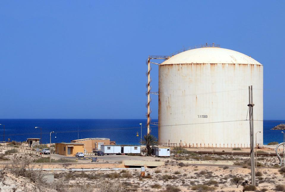 Brega oil port in Marsa Brega, about 270km west of Libya's eastern city of Benghazi.. Photo: AFP via Getty Images