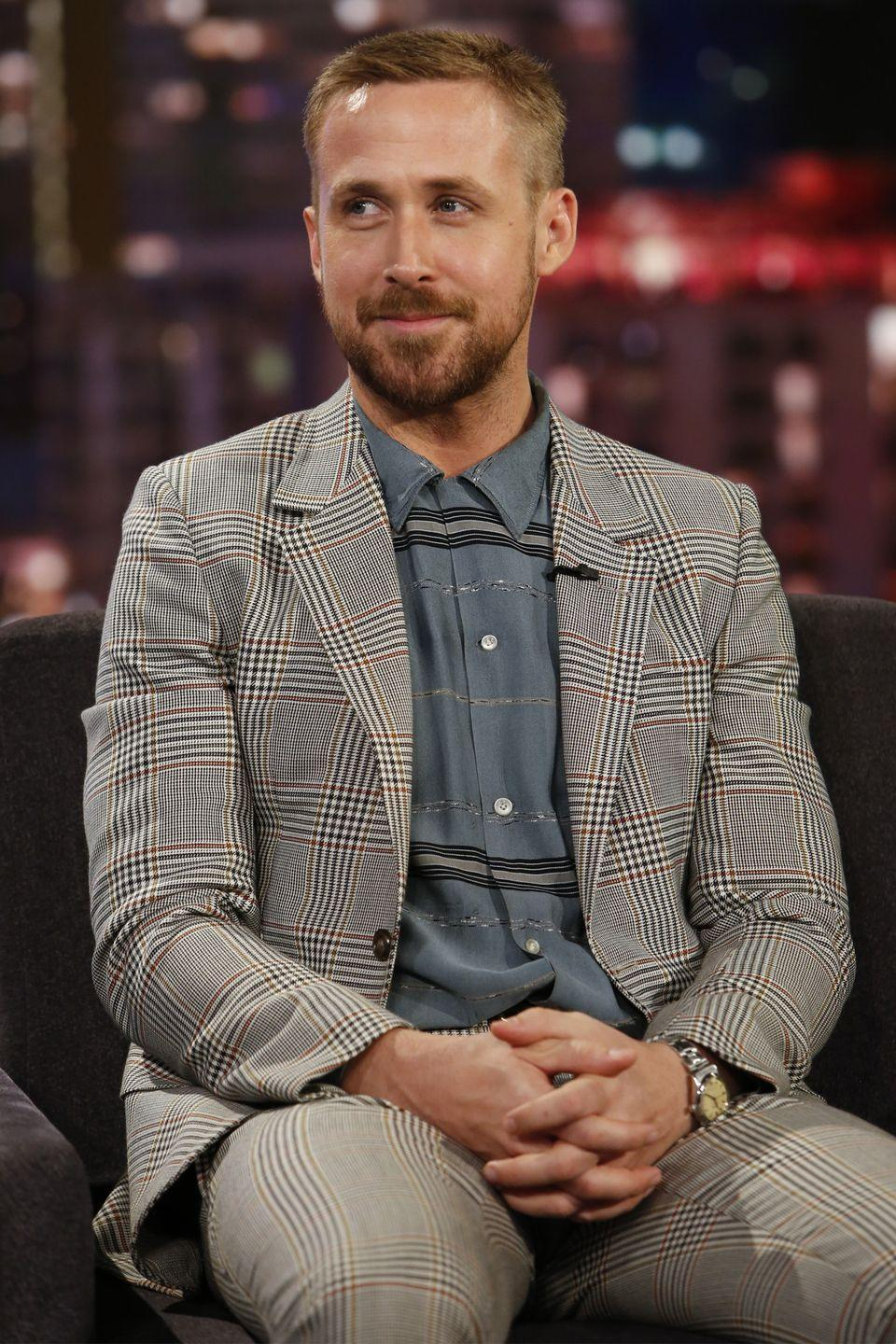 """<p>Gosling <a href=""""https://www.rollingstone.com/culture/pictures/dropout-boogie-14-celebs-who-never-got-their-degree-20140528/ryan-gosling-0206183"""" rel=""""nofollow noopener"""" target=""""_blank"""" data-ylk=""""slk:dropped out"""" class=""""link rapid-noclick-resp"""">dropped out</a> of Lester B. Pearson High School in Canada when he was 17 and went on to star in Disney's <em>All-New Mickey Mouse Club</em>.</p>"""