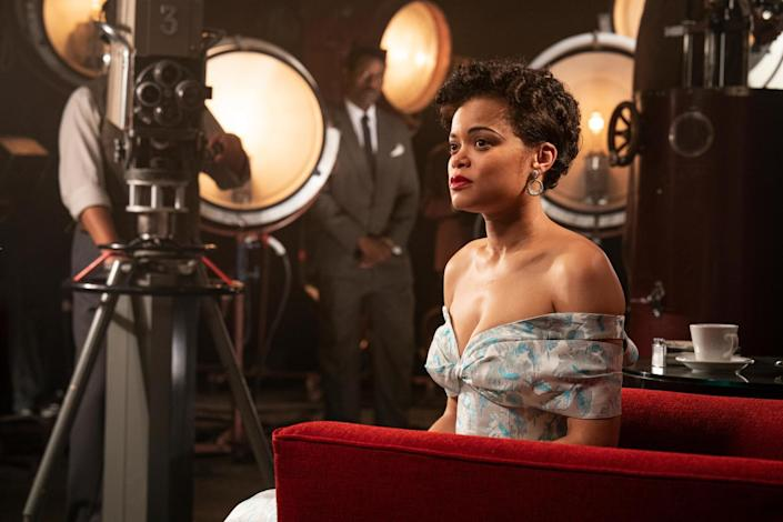 Andra Day on set