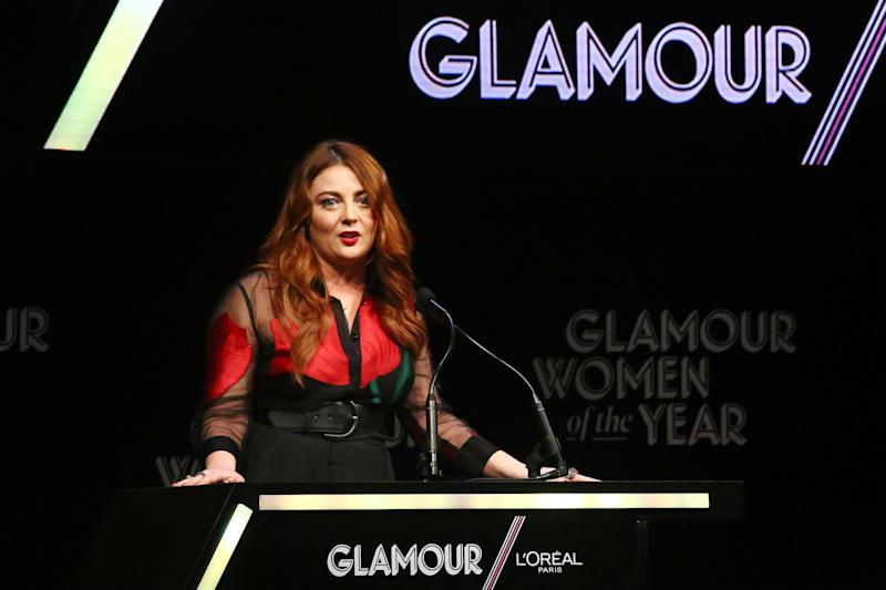"""Glamour Editor-in-Chief Samantha Barry said a monthly print schedule """"doesn't make sense anymore"""" for the magazine's readers. (Astrid Stawiarz via Getty Images)"""