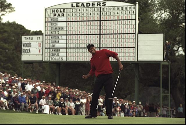 "Tiger Woods was frank about his first experiences with Augusta National, calling the course ""really not that hard."""