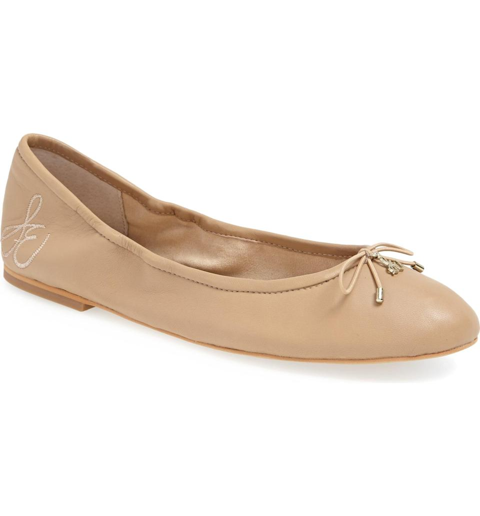 <p>These classic <span>Sam Edelman Felicia Ballet Flats</span> ($39-$130) feature a padded sole, making this an easy pair to take from the desk to dinner. Plus, they come in so many colors and patterns.</p>