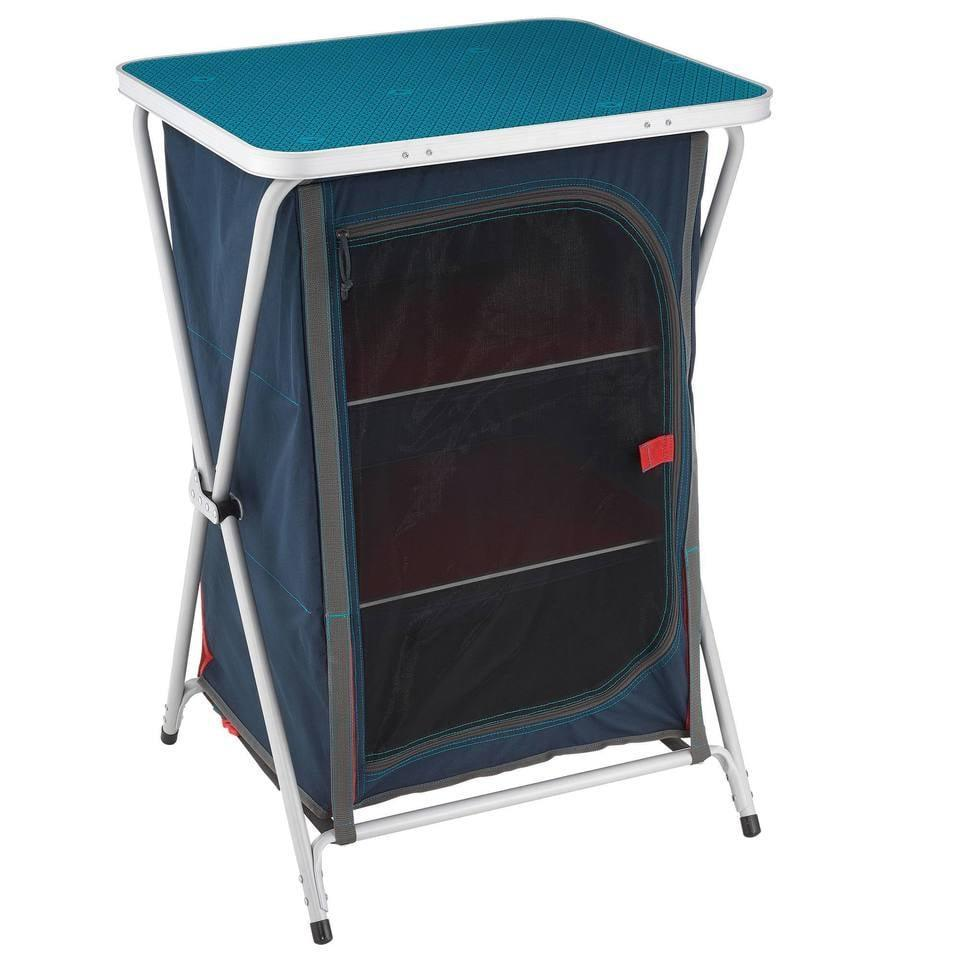 """<p>The <a href=""""https://www.popsugar.com/buy/Decathlon-Camping-Cabinet-574564?p_name=Decathlon%20Camping%20Cabinet&retailer=decathlon.com&pid=574564&price=50&evar1=moms%3Aus&evar9=47479532&evar98=https%3A%2F%2Fwww.popsugar.com%2Fphoto-gallery%2F47479532%2Fimage%2F47479537%2FDecathlon-Camping-Cabinet&list1=camping%2Ckid%20activities%2Ckid%20shopping%2Cparent%20shopping%2Cstaying%20home&prop13=api&pdata=1"""" class=""""link rapid-noclick-resp"""" rel=""""nofollow noopener"""" target=""""_blank"""" data-ylk=""""slk:Decathlon Camping Cabinet"""">Decathlon Camping Cabinet</a> ($50, originally $65) holds all of your camping essentials and will help keep your tent neat and tidy (<a href=""""https://www.popsugar.com/family/chrissy-teigen-luna-camping-in-backyard-photos-47428491"""" class=""""link rapid-noclick-resp"""" rel=""""nofollow noopener"""" target=""""_blank"""" data-ylk=""""slk:even with kids around"""">even with kids around</a>). It folds up for convenient storage and comes with an easy-to-carry storage bag, too.</p>"""