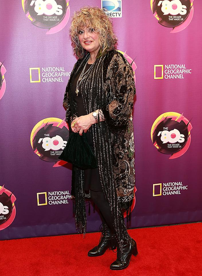 "Nina Blackwood attends Nat Geo's ""The '80s: The Decade That Made Us"" New York Premiere at Culture Club on April 9, 2013 in New York City."