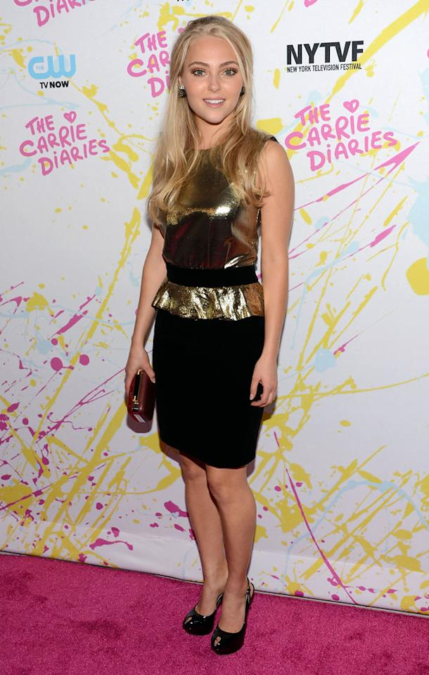"""AnnaSophia Robb attends """"The Carrie Diaries"""" Premiere during the 2012 New York Television Film Festival at SVA Theater on October 22, 2012 in New York City."""