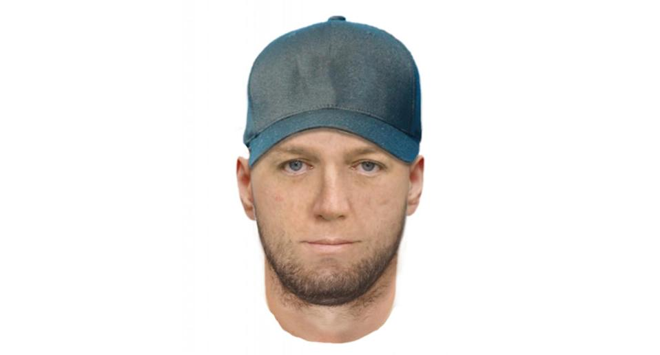 The man is perceived to be of Caucasian appearance, aged between 30-40years, short brown hair, unshaven and wearing a baseball cap. Soure: Victoria Police