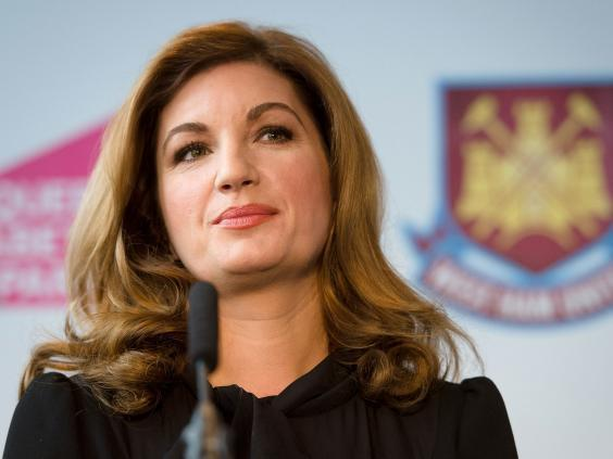 Karren Brady was initially praised for helping secure the move to the Olympic Village (Getty)