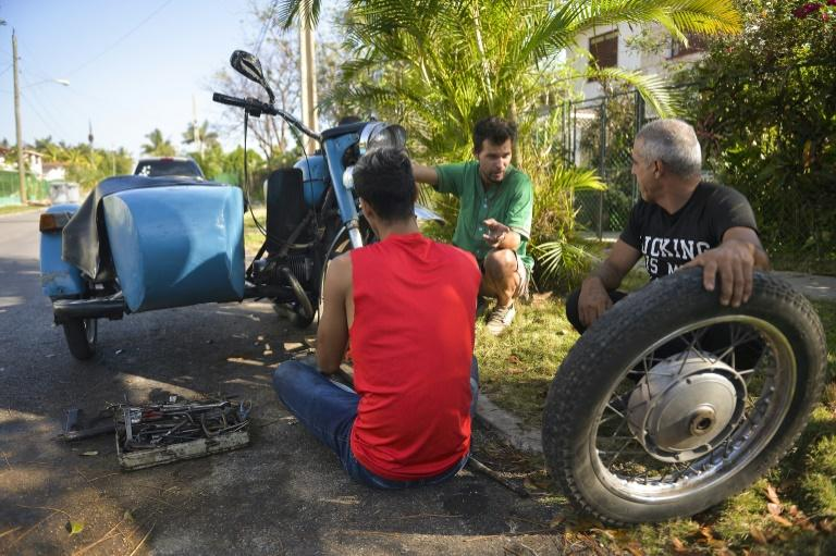 Cuban mechanics are skilled at keeping the old motorcycles operational years beyond their expiration dates