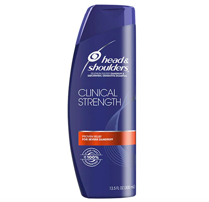 """<p><strong>Head & Shoulders </strong></p><p>amazon.com</p><p><a href=""""https://www.amazon.com/dp/B07N9NND5G?tag=syn-yahoo-20&ascsubtag=%5Bartid%7C10055.g.29862922%5Bsrc%7Cyahoo-us"""" rel=""""nofollow noopener"""" target=""""_blank"""" data-ylk=""""slk:Shop Now"""" class=""""link rapid-noclick-resp"""">Shop Now</a></p><p>""""This shampoo contains 1% selenium sulfide,"""" says Dr. Gonzalez. """"This ingredient reduces skin flaking through its antifungal and oil-controlling abilities. As a bonus, it combats excess oil which can exacerbate flaking and itchiness.""""</p>"""