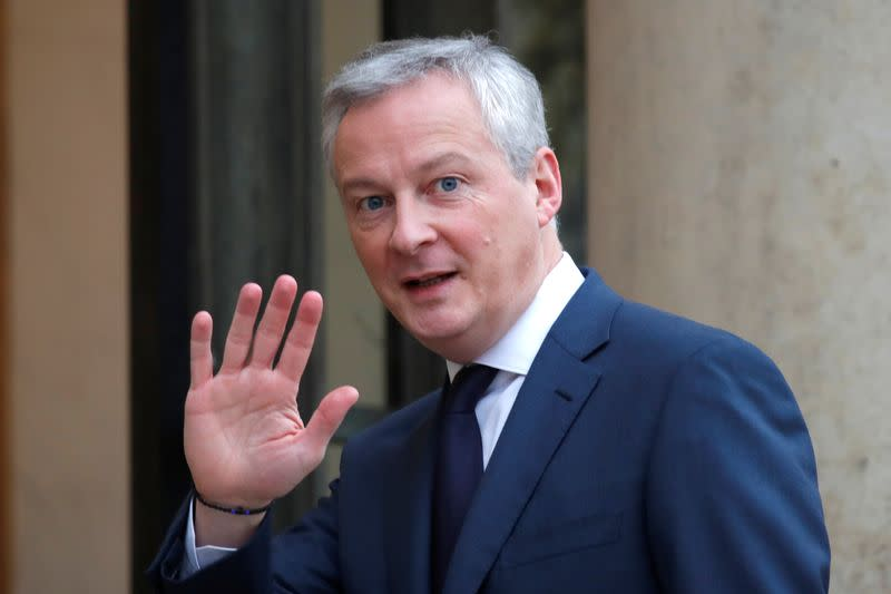 France to have growth of 1.3% in 2019 and 2020 - Le Maire tells paper