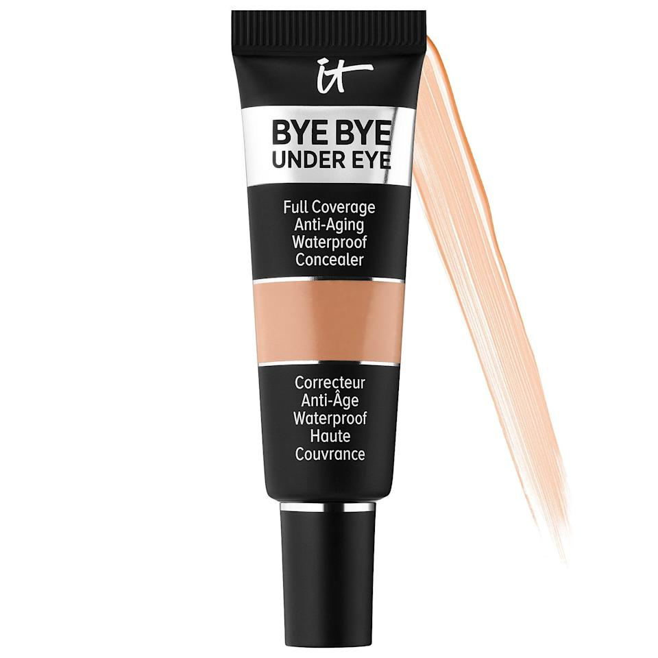 """<p><strong>The Product:</strong> <span>IT Cosmetics Bye Bye Under Eye Full Coverage Anti-Aging Waterproof Concealer</span> ($26)</p> <p><strong>Customer Review:</strong> """"This concealer covers so well and you really only need to use a tiny amount. Doesn't crease in fine lines unless you over apply. Highly recommended!""""</p>"""
