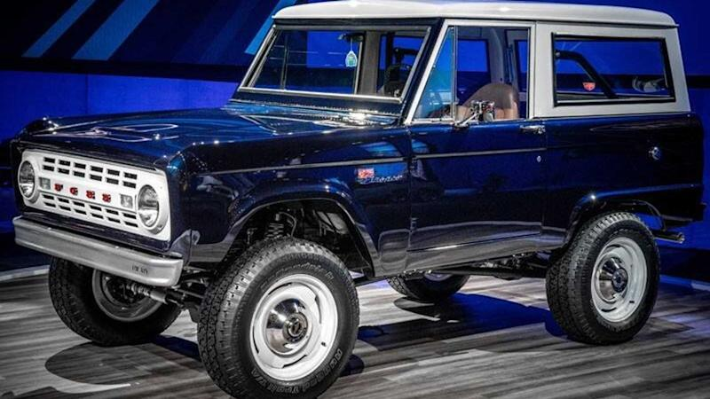 Jay Leno's Shelby GT500-Powered '68 Bronco On Display At SEMA
