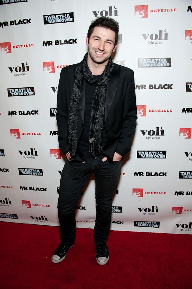 """Celebrity chef Stuart O'Keeffe attends Bravo's """"Tabatha Takes Over"""" premiere party at Mr. Black on January 10, 2012 in Los Angeles, California."""