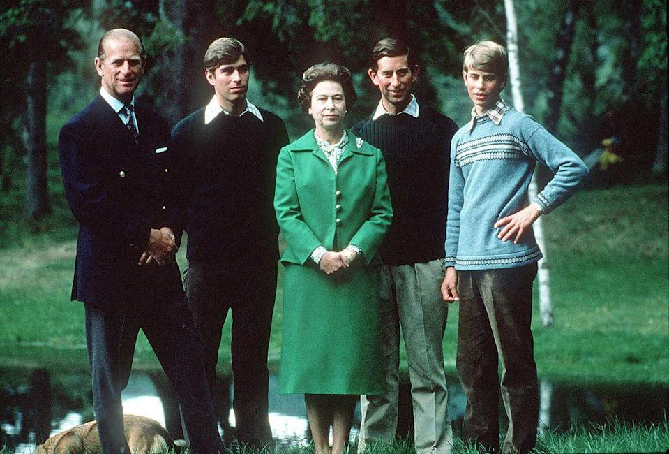<p>The Queen, Prince Philip, and their sons take a holiday in Balmoral.</p>