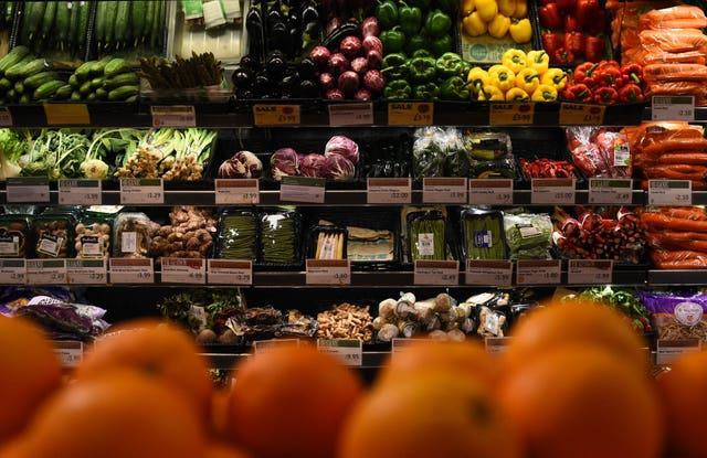 The report calls for more fruit and veg consumption (Kirsty O'Connor/PA)
