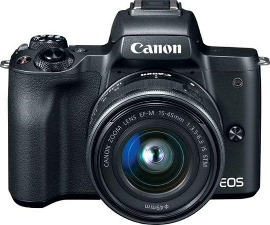 <p>If they want amazing, high-quality pictures, this <span>Canon EOS M50 Mirrorless Camera</span> ($650) will do the job.</p>