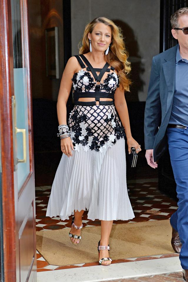 Blake Lively Masterfully Mixed Chanel And Converse In One