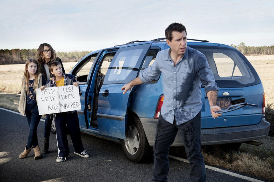 <p>Jason Jones and Samantha Bee's entire TBS comedy is about a family road trip. The Parker family's wild ride from Syracuse, N.Y., to Florida has included police run-ins, car troubles, medical mishaps, and a whole lot of off-color comedy. Now with a third season renewal already greenlit, at least the family has that pee-in-a-cup thing down.<br><br>(Photo: TBS) </p>