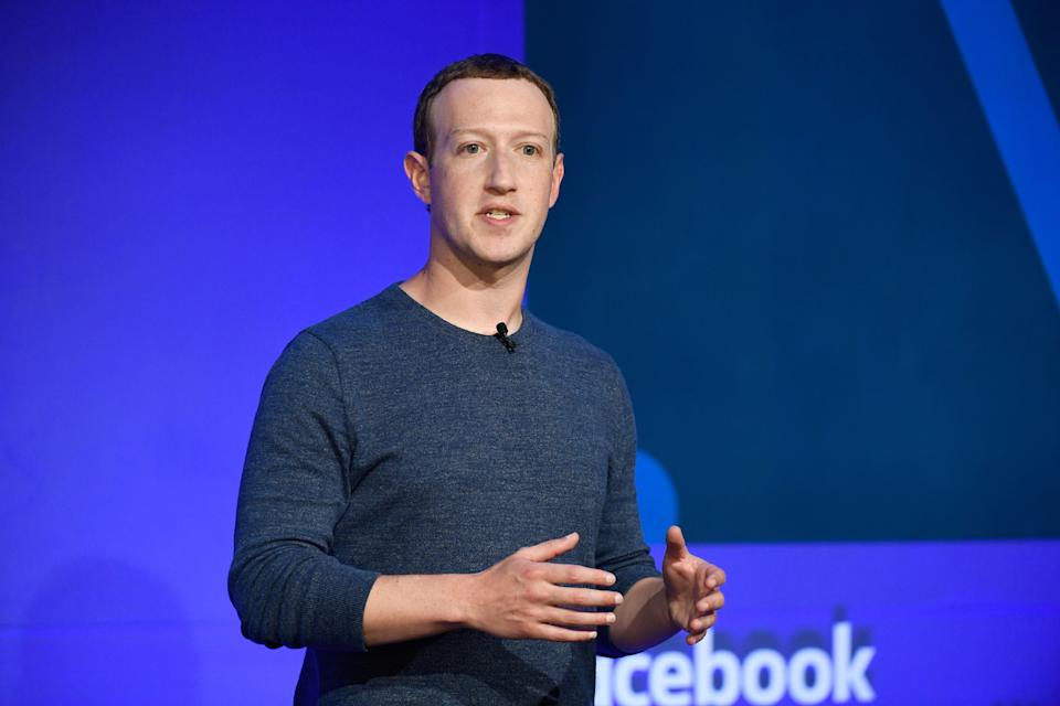 <p>Facebook CEO Mark Zuckerberg speaks during a press conference in Paris on May 23, 2018. </p> (BERTRAND GUAY/AFP via Getty Images)