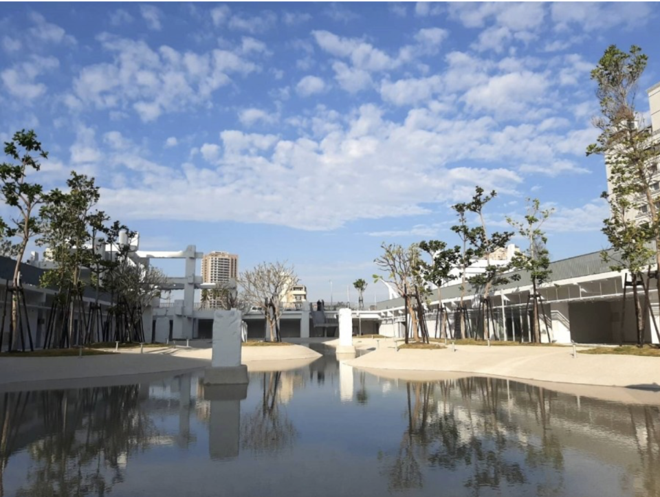 """<p>台南市最大親水公園<br /> 「河樂廣場The Spring」於今年三月開幕 