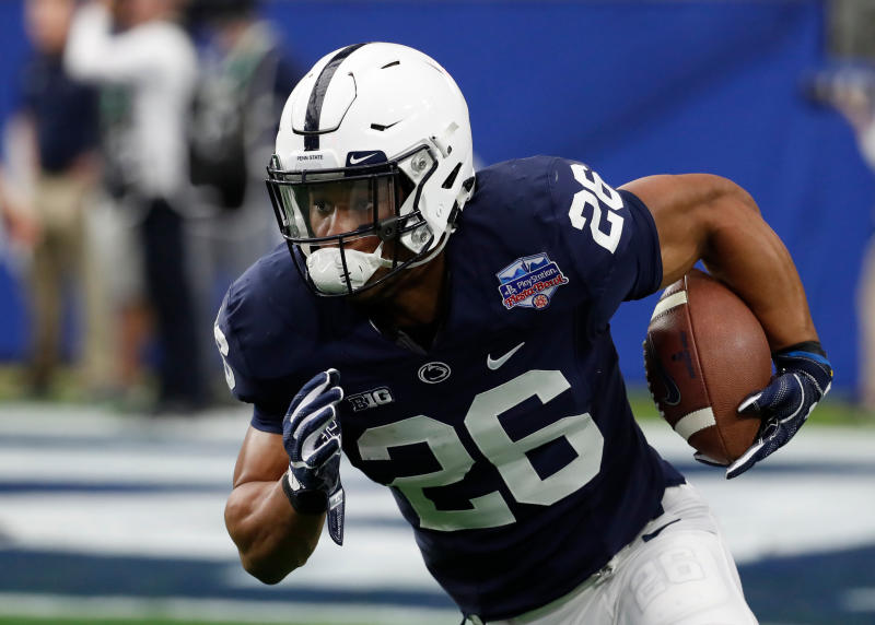 Penn State running back Saquon Barkley went to the Giants with the second overall pick. (AP)