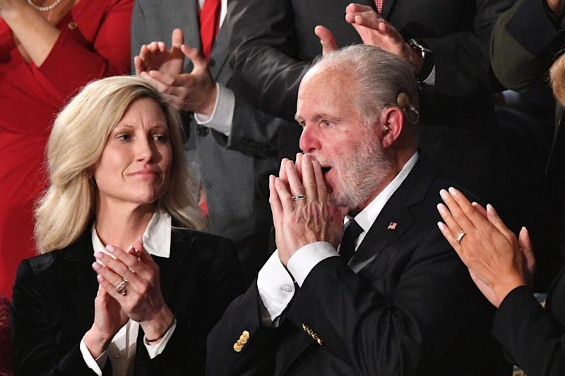 Rush Limbaugh after being awarded the Presidential Medal of Freedom at the State of the Union address on Feb. 4, 2020.