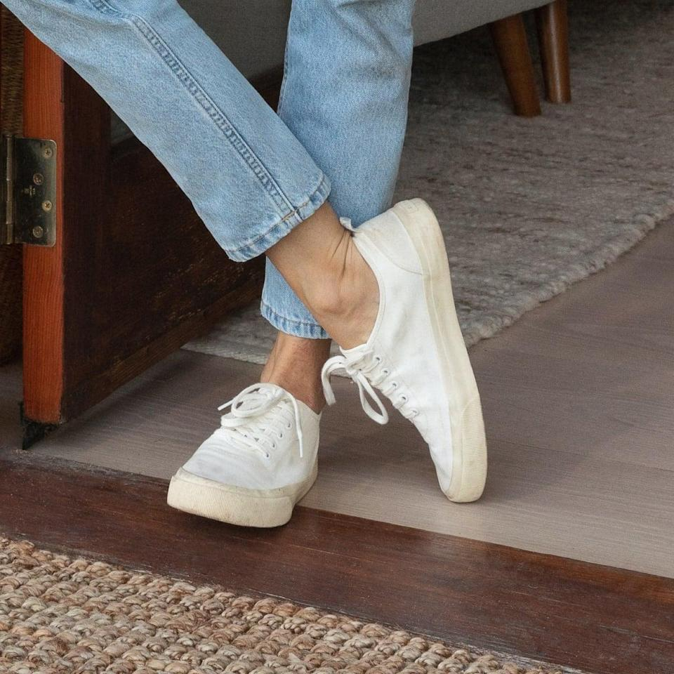 """<h2>The Forever Sneaker<br></h2><br>A fully recyclable tennis shoe in one of our favorite outfit-friendly silhouettes? Yes, please! Everlane's newest shoe is composed of 50% recycled cotton, and the entire last can be repurposed when its life cycle has ended. (Although, with a design this cute, we don't see ourselves retiring these sneakers anytime soon.)<br><br><strong>Everlane</strong> Forever Sneaker, $, available at <a href=""""https://go.skimresources.com/?id=30283X879131&url=https%3A%2F%2Fwww.everlane.com%2Fproducts%2Fwomens-forever-sneaker-white"""" rel=""""nofollow noopener"""" target=""""_blank"""" data-ylk=""""slk:Everlane"""" class=""""link rapid-noclick-resp"""">Everlane</a>"""