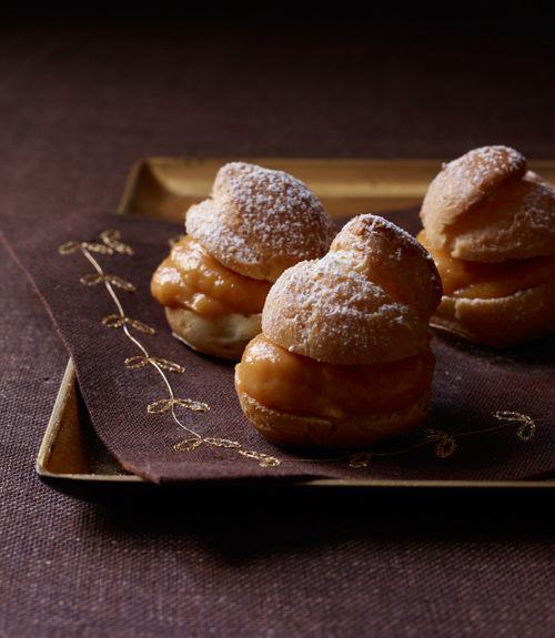 "<p>We're all for fancy little pastries, and this pumpkin cream filling is delicious enough to slather on just about anything.</p><p><a href=""https://www.goodhousekeeping.com/food-recipes/a14002/cream-puffs-pumpkin-pastry-cream-recipe-124671/"" rel=""nofollow noopener"" target=""_blank"" data-ylk=""slk:Get the recipe for Cream Puffs with Pumpkin Pastry Cream »"" class=""link rapid-noclick-resp""><em>Get the recipe for Cream Puffs with Pumpkin Pastry Cream »</em></a></p>"