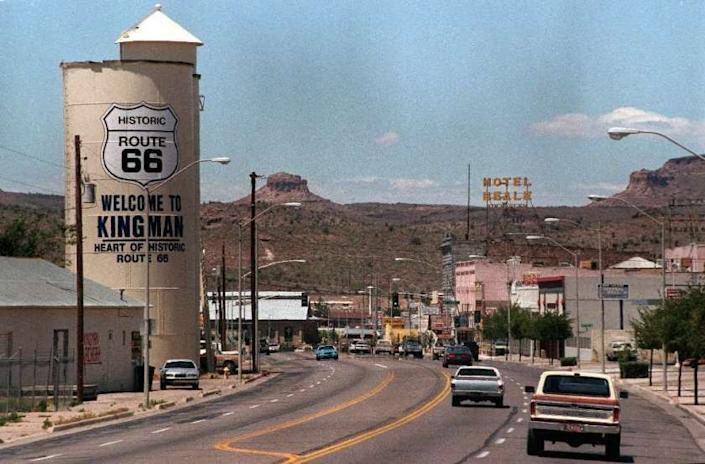 """Kingman, Ariz., in Mohave County, where 73% of the vote went to President Trump in the 2016 election. <span class=""""copyright"""">(Bob Carey / Los Angeles Times)</span>"""