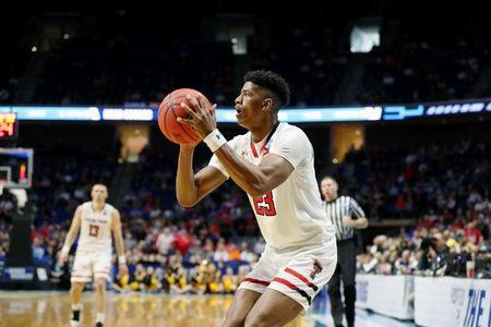 Mar 22, 2019; Tulsa, OK, USA; Texas Tech Red Raiders guard Jarrett Culver (23) lines up to shoot against the Northern Kentucky Norse during the second half in the first round of the 2019 NCAA Tournament at BOK Center. Mandatory Credit: Brett Rojo-USA TODAY Sports