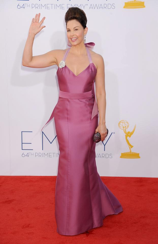 Ashley Judd arrives at the 64th Primetime Emmy Awards at the Nokia Theatre in Los Angeles on September 23, 2012.