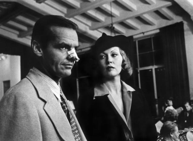 Jack Nicholson and Faye Dunaway in a scene from the movie Chinatown. (Photo by Herbert Dorfman/Corbis via Getty Images)