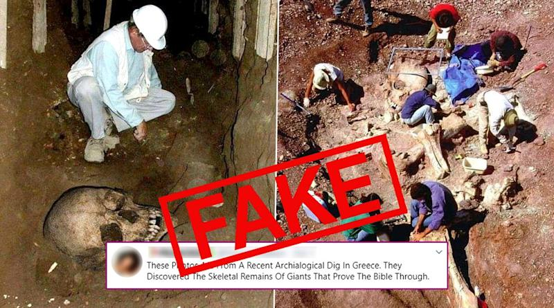 Skeletal Remains of Giants Uncovered in Recent Archaeological Dig in Greece Are Fake! Know Truth About These Old Pics That Have Resurfaced Online