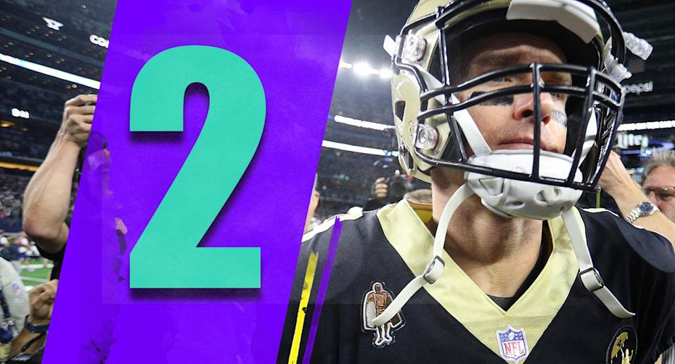 <p>The Saints' loss on a Thursday night at Dallas wasn't anything to be ashamed of. But now, unless the Rams lose at Chicago this week, New Orleans is looking at the very real possibility of having to go on the road if they make the NFC championship game. (Drew Brees) </p>
